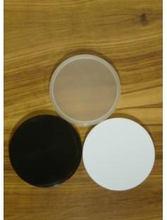Plastic Cap for 100 mL Cosmetic Jar BLACK