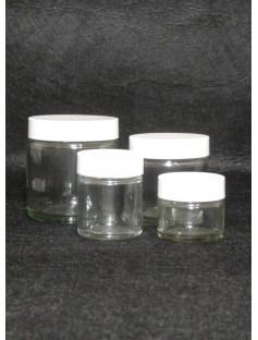 Glass 15 mL Cosmetic Jar CLEAR