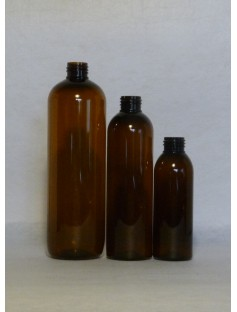 Plastic 125 mL Bottle AMBER (24-410 Neck)
