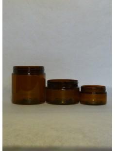 Plastic 500 mL Cosmetic Jar AMBER