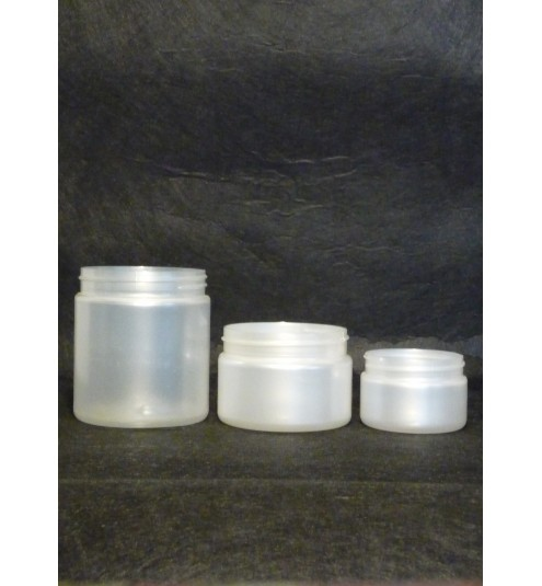 Plastic 250 mL Cosmetic Jar FROSTED